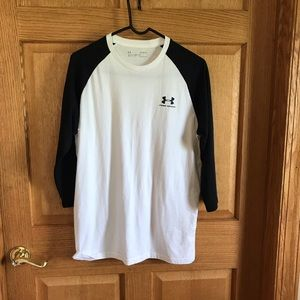 Under Armour, long sleeved tee shirt